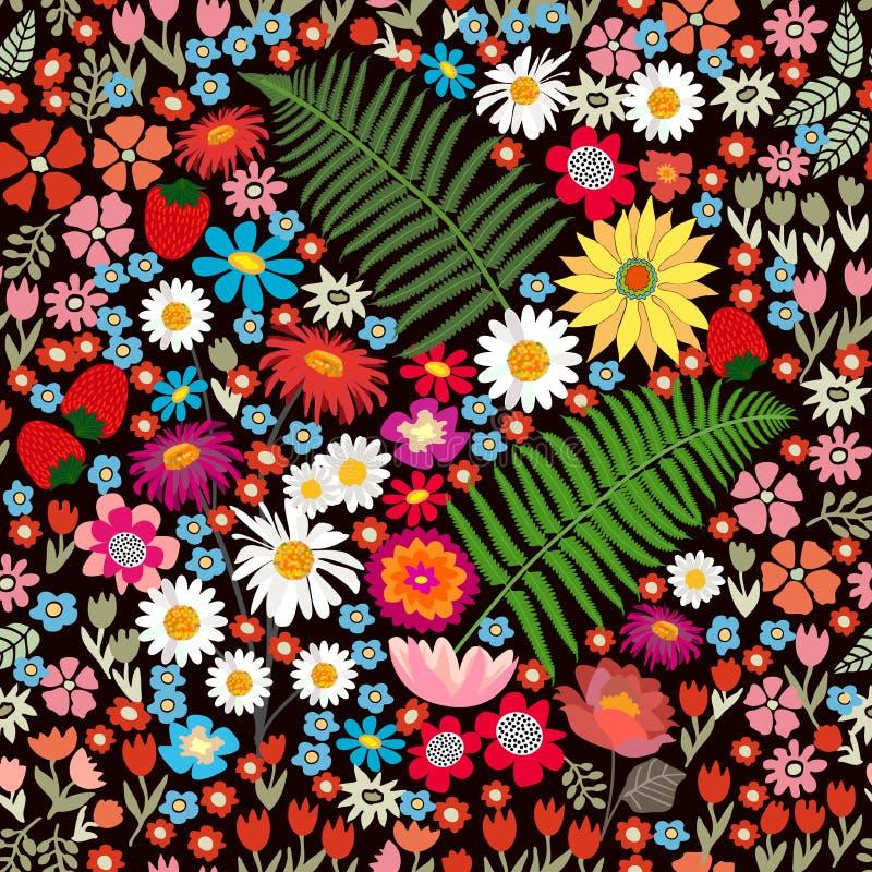 Tapis floral coloré illustration de vecteur