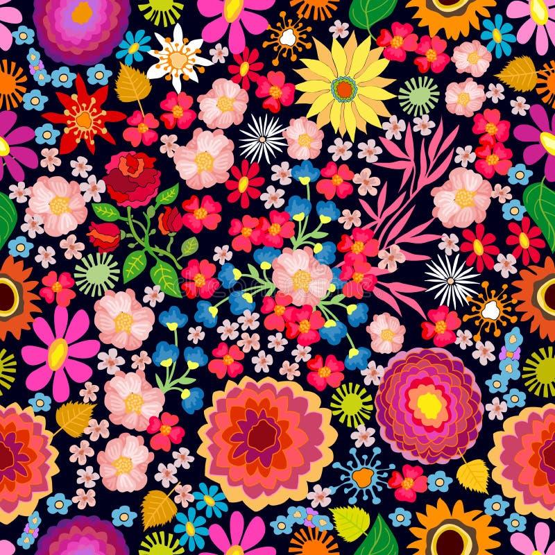 Tapis floral coloré illustration libre de droits