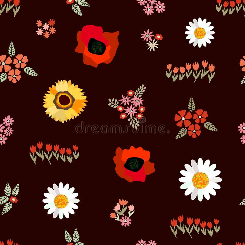 Tapis floral d'été illustration de vecteur