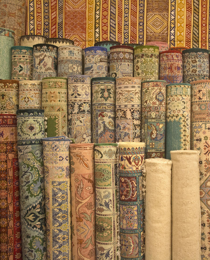 Tapis marocains photographie stock