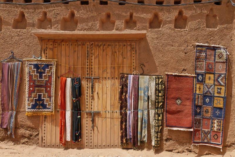 Tapis marocains traditionnels image libre de droits