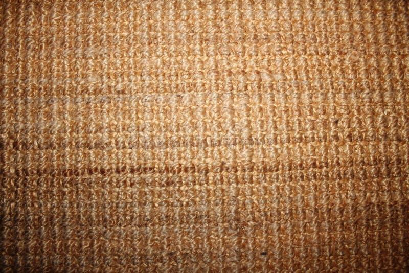 Tapis modelé de fibre de coco images stock
