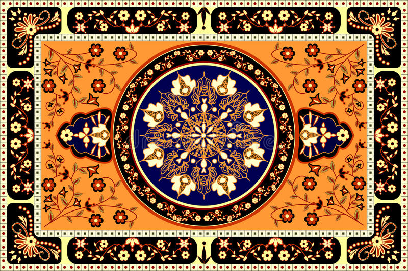 Tapis orange illustration de vecteur