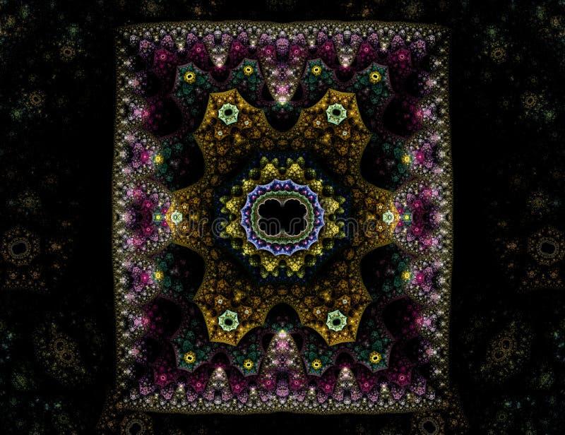 Tapis oriental fleuri illustration de vecteur
