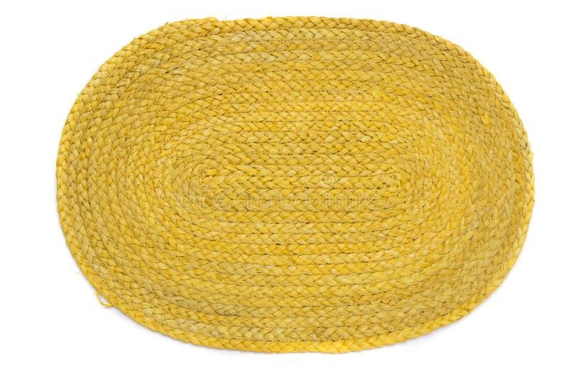 tapis ovale pour placer des plats en ayant un repas photographie stock libre de droits