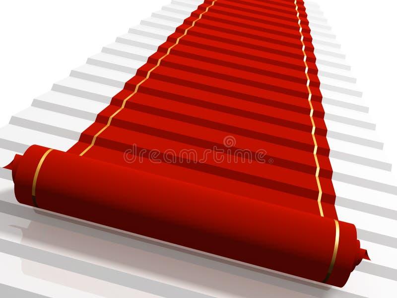Tapis rouge illustration de vecteur
