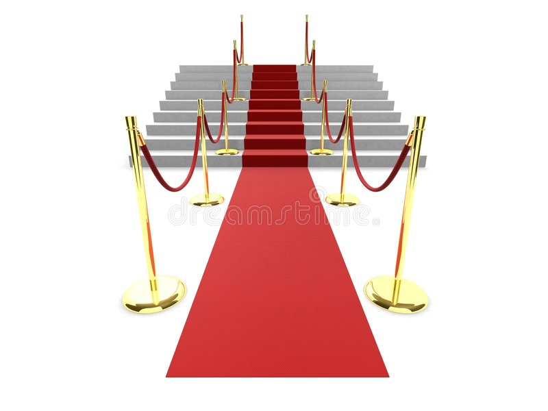 Tapis rouge illustration libre de droits