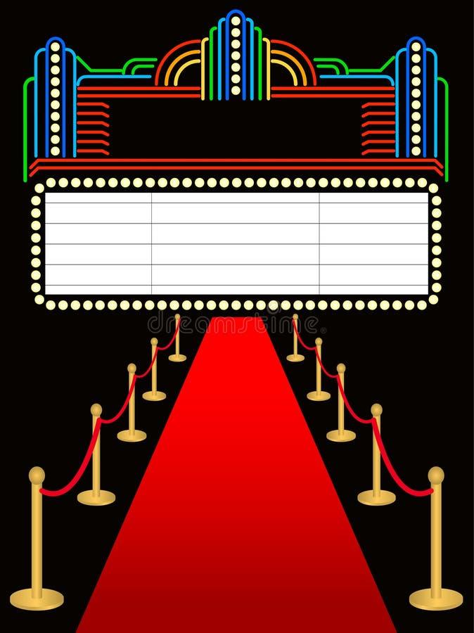 Tapis rouge Marquee premier/ENV illustration stock