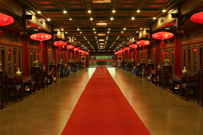 Tapis rouge oriental photos stock