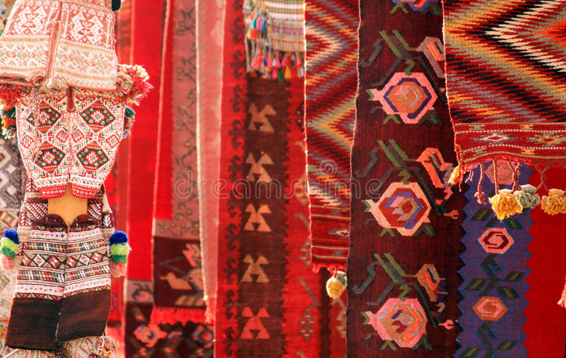Tapis rouges et habillement photographie stock