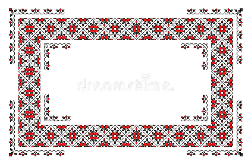 Tapis traditionnel roumain illustration stock