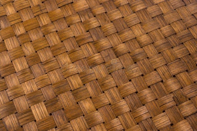 tapis tressé de rotin - nourriture de support images stock