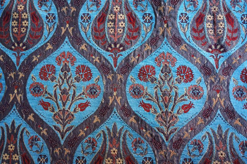 Tapis turc traditionnel Configuration florale images stock