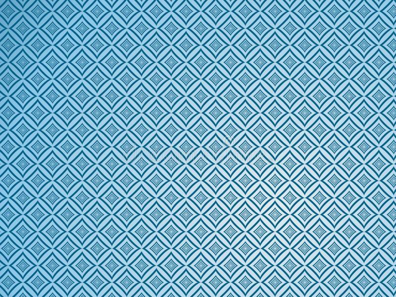 Tapisserie bleue. illustration de vecteur