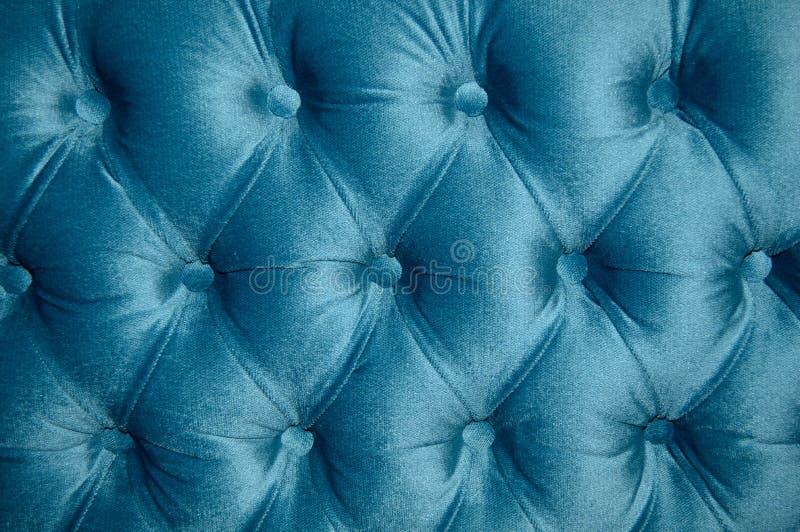 Tapisserie d'ameublement de sofa de velor de turquoise belle image libre de droits