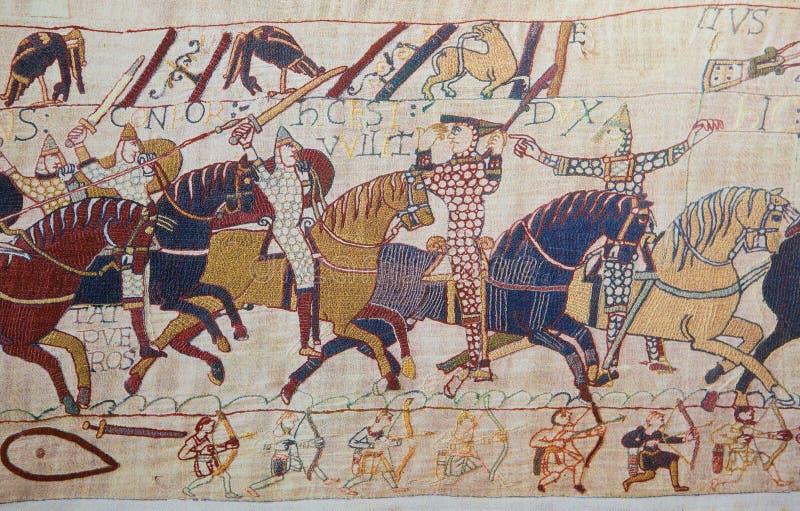 Tapisserie de Bayeux image stock