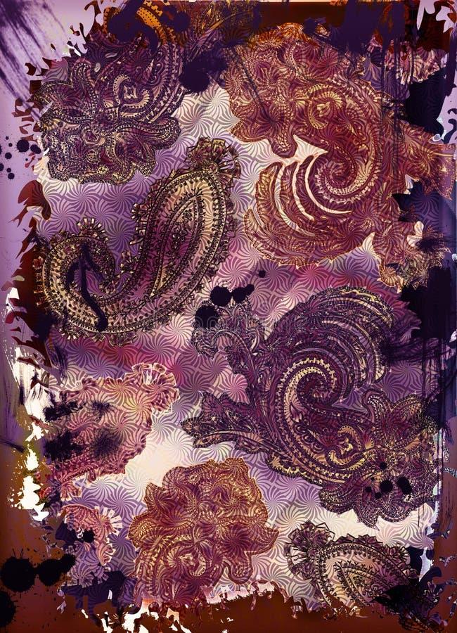 tapisserie de Bohème de motif illustration de vecteur