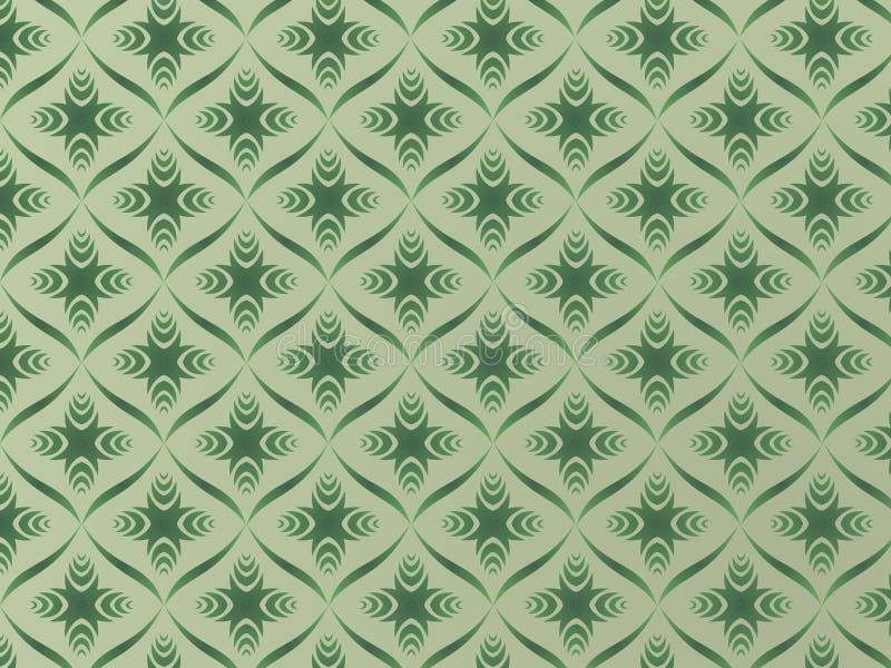 Tapisserie verte illustration de vecteur
