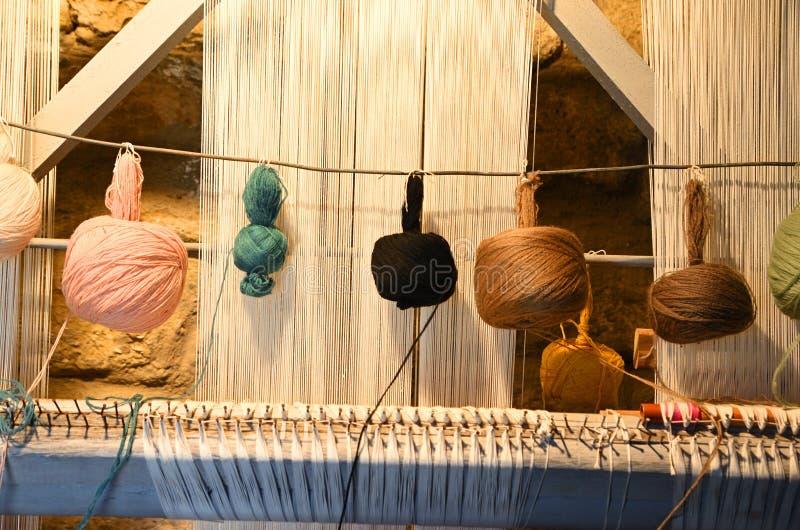 Tapissez les accessoires de tricotage, Azerbaïdjan, Bakou images stock