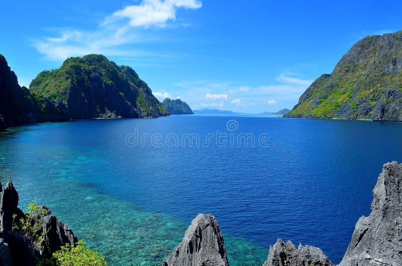 Tapiutan海峡- El Nido,巴拉望岛,菲律宾 库存图片