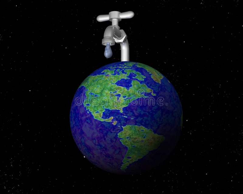 Tapkraan op de aarde stock illustratie