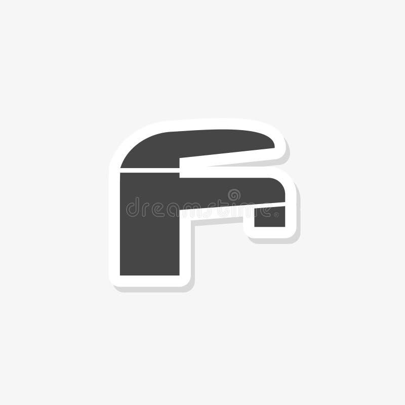 Tapkraansticker gevuld vlak teken voor mobiel concept en Webontwerp vector illustratie