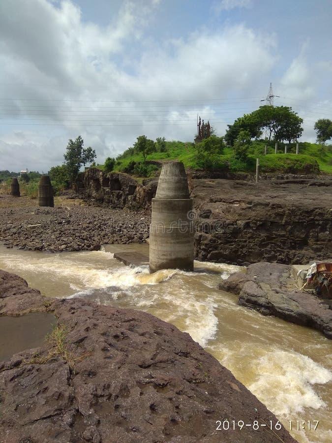 Tapovan Godavari, rivier in Nasik, india stock fotografie