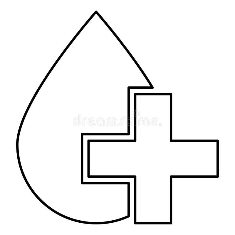 Tappa och korsa för färgillustrationen för symbolen den enkla bilden för svart stil för lägenheten vektor illustrationer