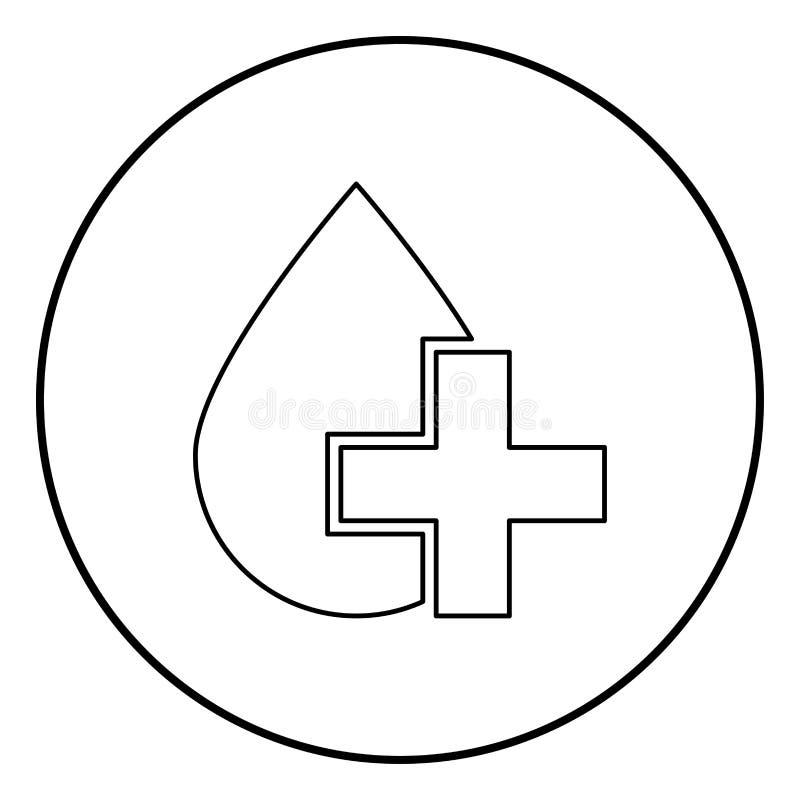 Tappa och korsa symbolssvartfärg i cirkelrunda royaltyfri illustrationer