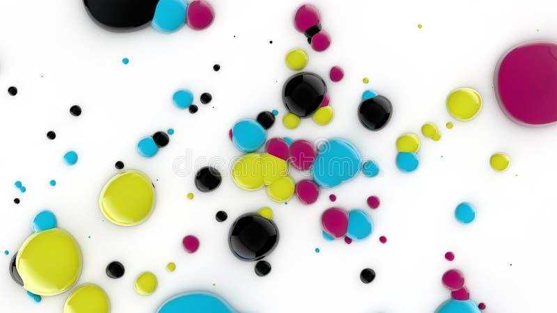 tappar färgpulverprinting royaltyfri illustrationer