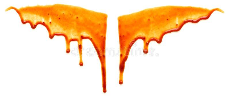 tappar ketchup arkivbilder