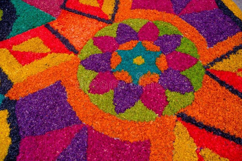 Tappeti di Pasqua in Antigua Guatemala immagine stock libera da diritti