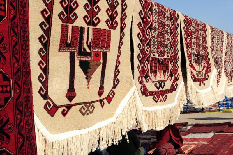 Tappeti Handmade per la preghiera musulmana immagine stock libera da diritti