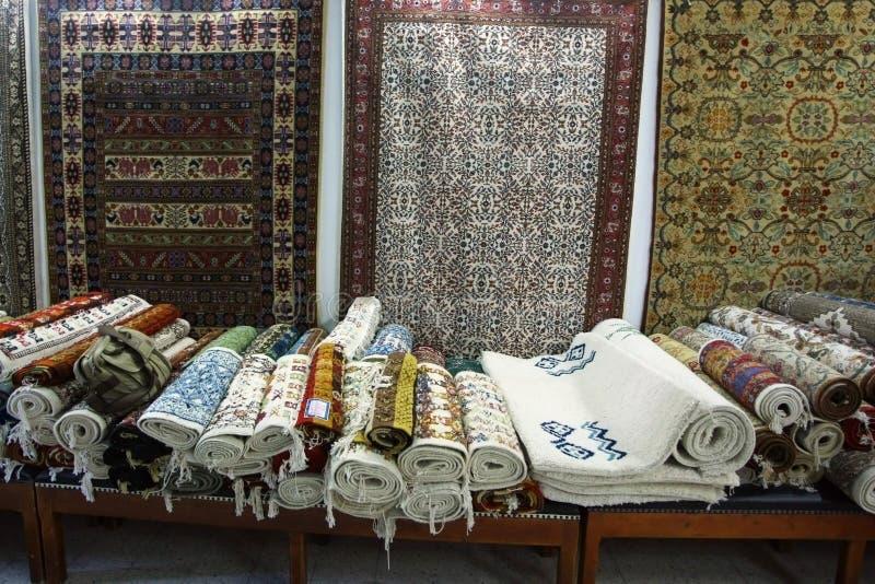 Tappeti in Tunisia fotografia stock