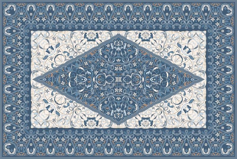 Tappeto colorato persiano illustrazione vettoriale