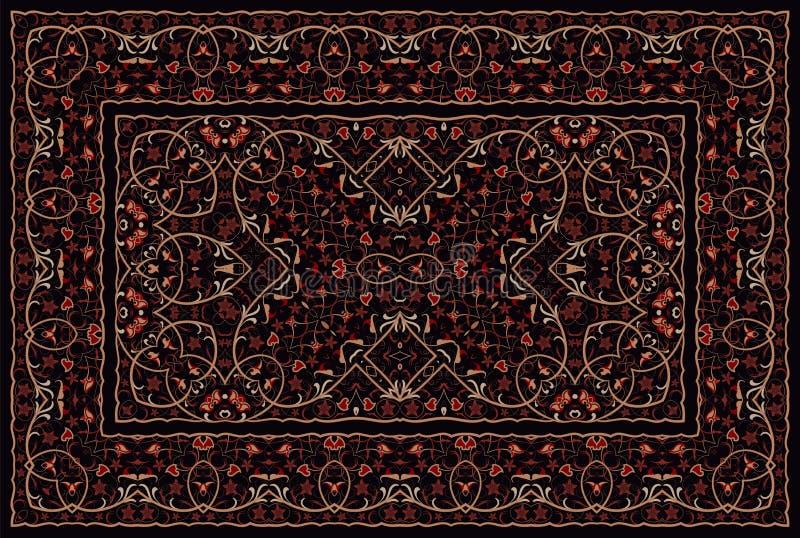 Tappeto colorato persiano illustrazione di stock