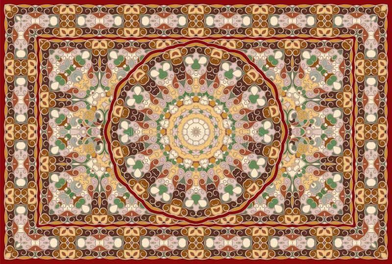 Tappeto colorato persiano royalty illustrazione gratis