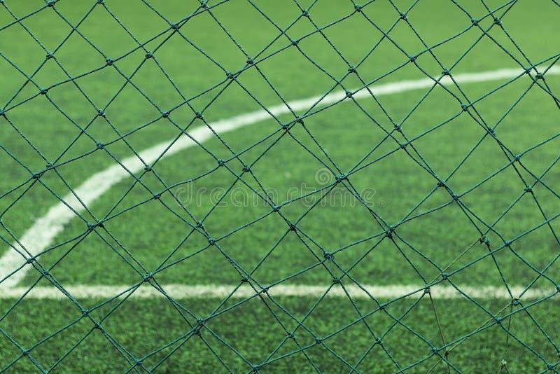 Tappeto erboso artificiale di un calcio fotografia stock for Tappeto erboso prezzi