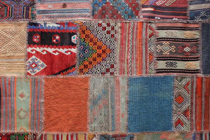 Tappeto greco variopinto handcrafted fotografie stock