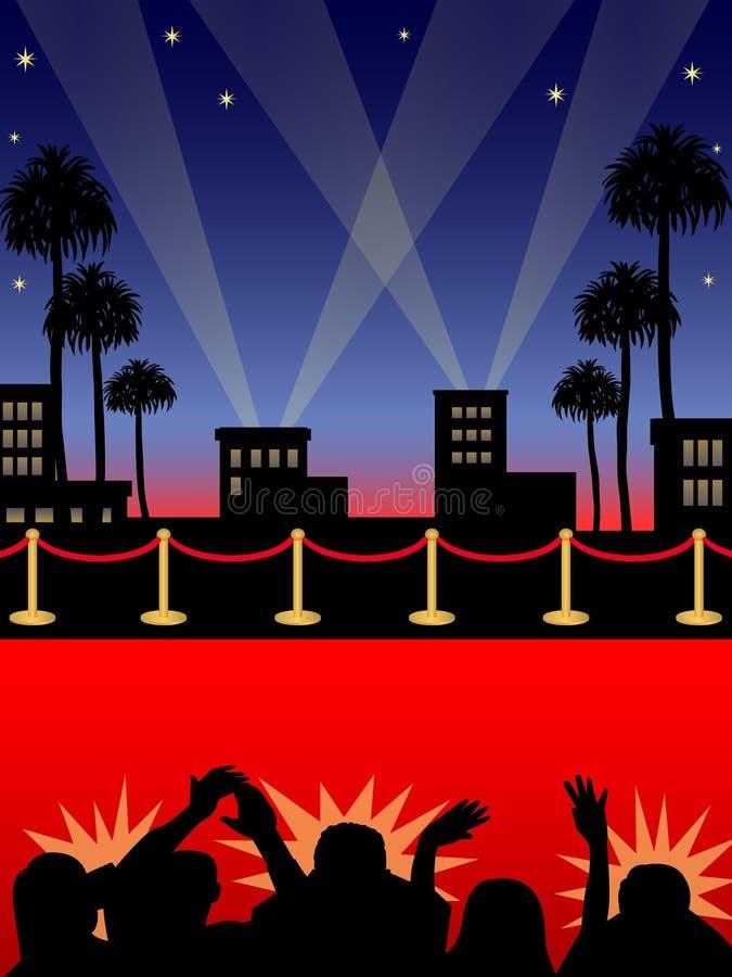 Tappeto rosso/ENV di Hollywood royalty illustrazione gratis