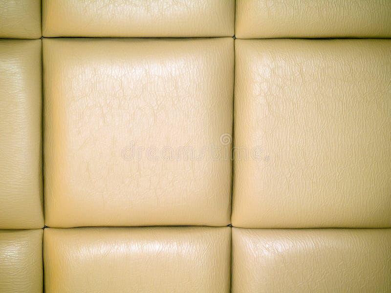 Tappezzeria di cuoio pallida del Tan fotografie stock