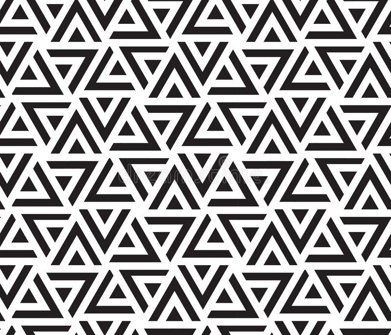 TAPPING STRIPED TRIANGLE. GEOMETRIC SEAMLESS VECTOR PATTERN. MODERN STYLISH TEXTURE. royalty free illustration
