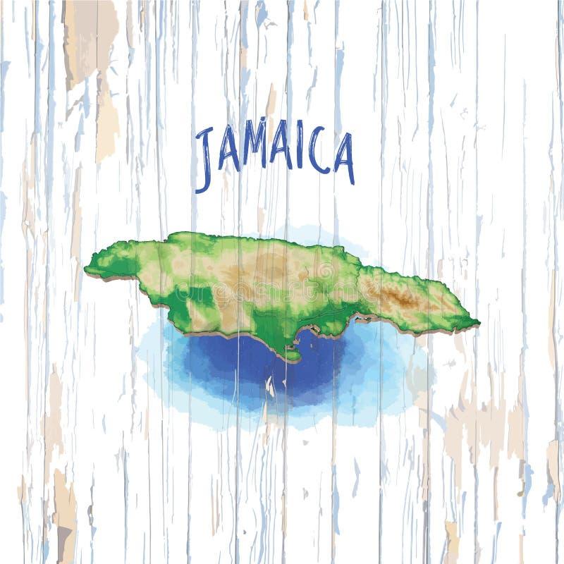 Tappningöversikt av Jamaica vektor illustrationer