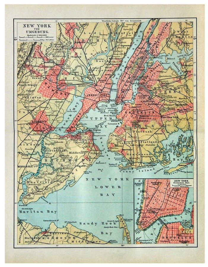 Tappningöversikt av New York arkivbild