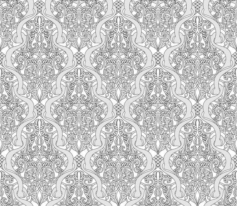 Tappning Art Nouveau Pattern vektor illustrationer