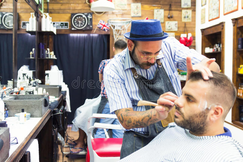 Tappning Barber Shop arkivfoto