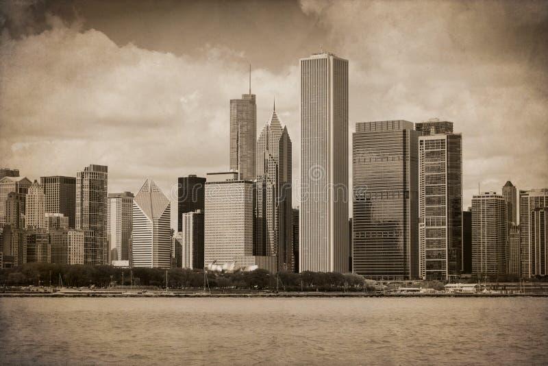 Tappning Chicago royaltyfri foto