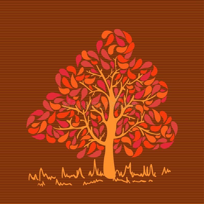 Tappning färgar sidaträdet vektor illustrationer