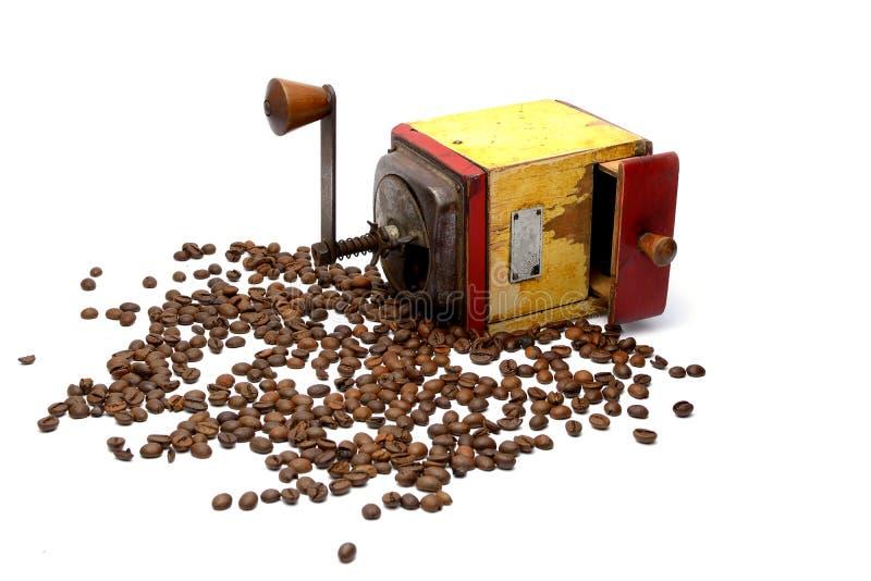 tappning för bönakaffegrinder arkivfoto