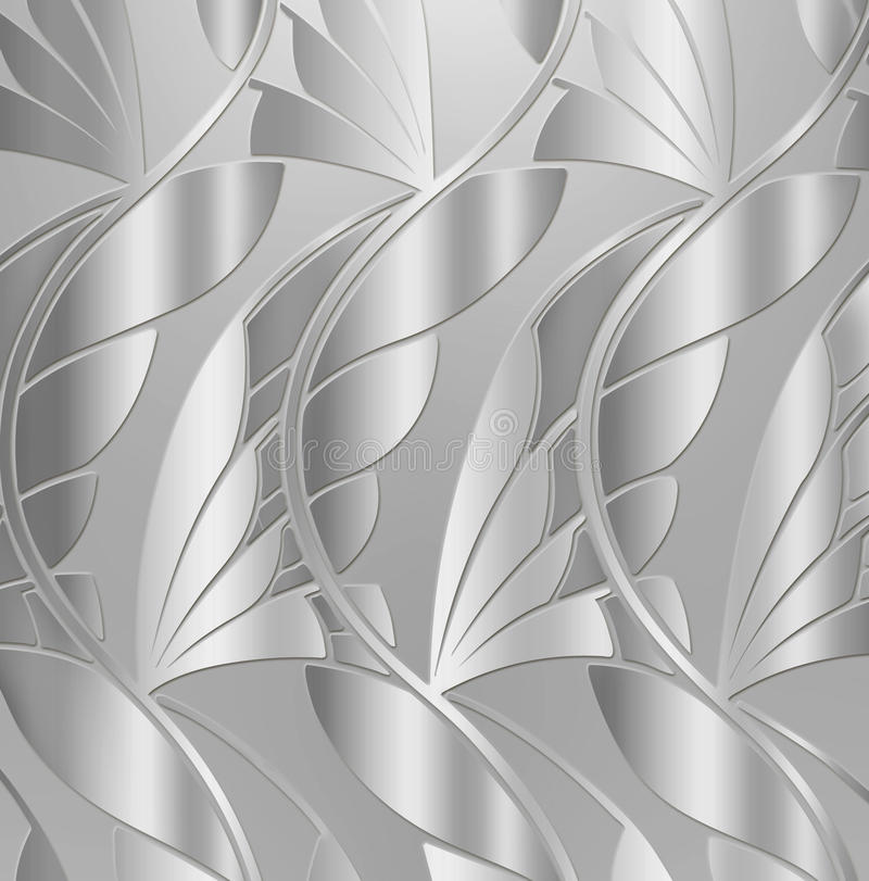 tappning för bakgrundsleafsilver vektor illustrationer